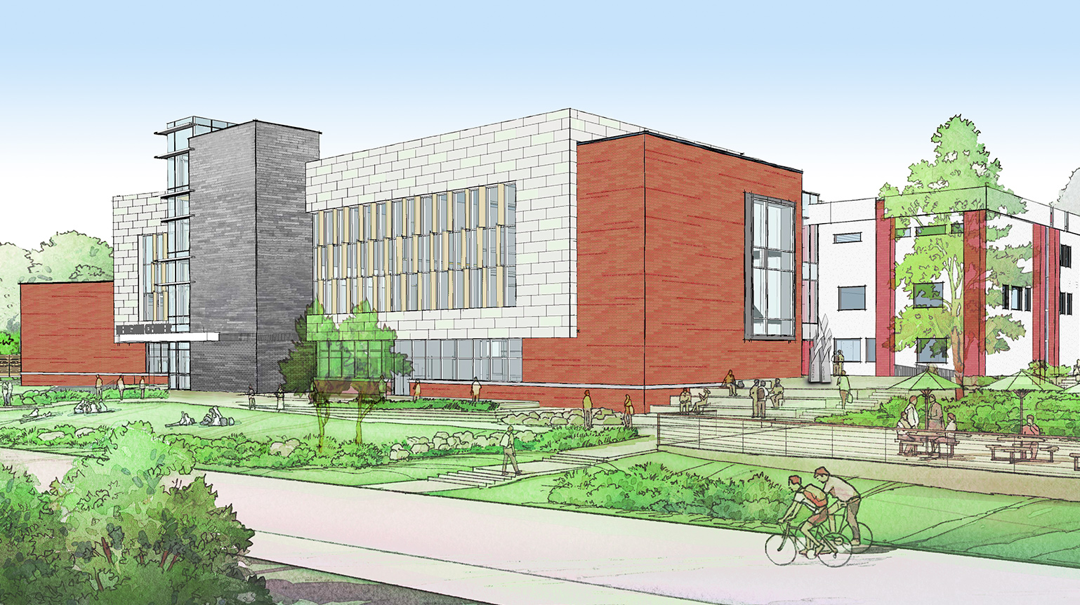 Rendering of the Bergami Center for Science, Technology, and Innovation