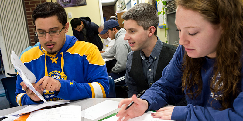 photo of students studying in the Center for Learning Resources