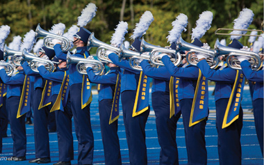 Image of the Chargers Marching Band