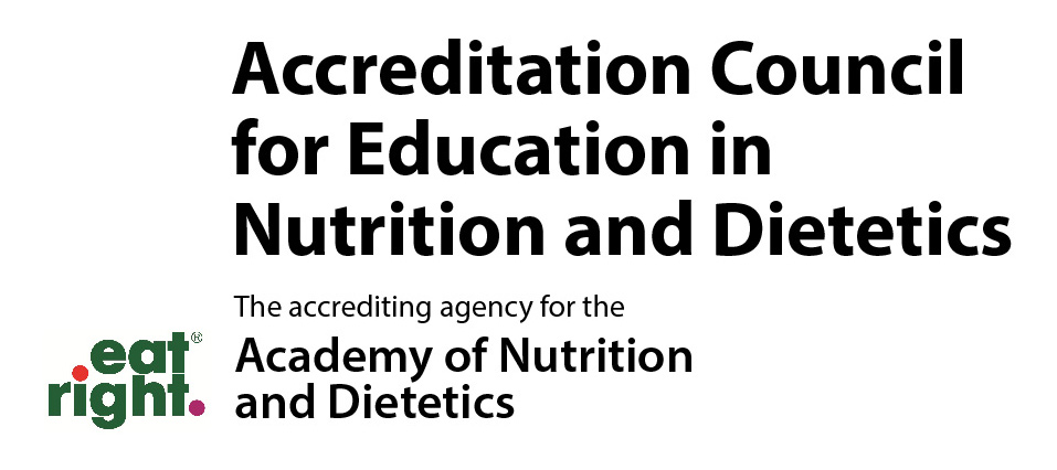 Accredited by the Accreditation Council for Education in Nutrition and Dietetics (ACEND) logo