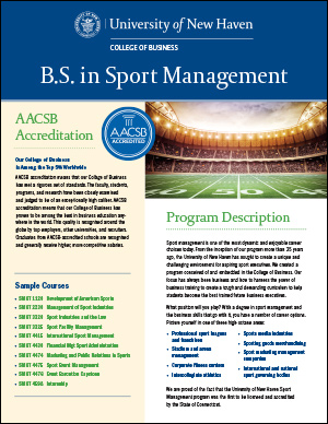 B.S. in Sport Management PDF cover