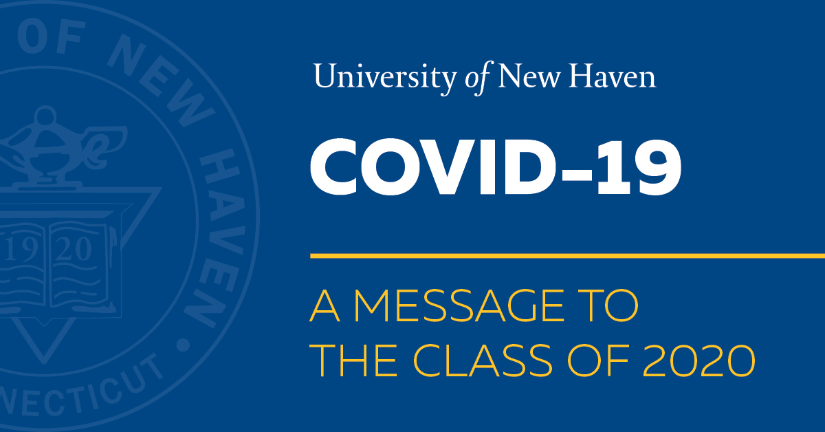 Covid-19 message to class of 2020.