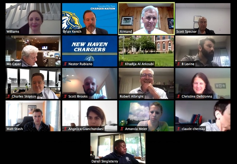 Image of MBA speaker series via zoom.