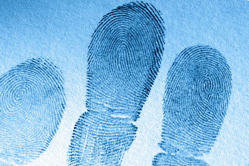 Close-up of fingerprints