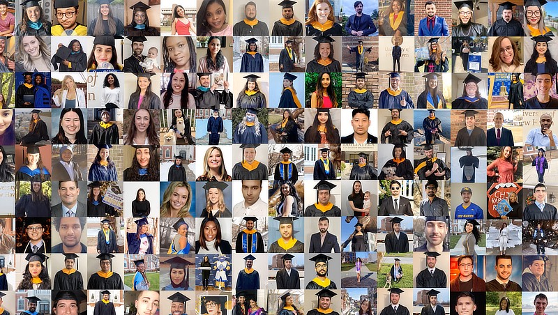 Collage of some of the winter 2021 graduates.
