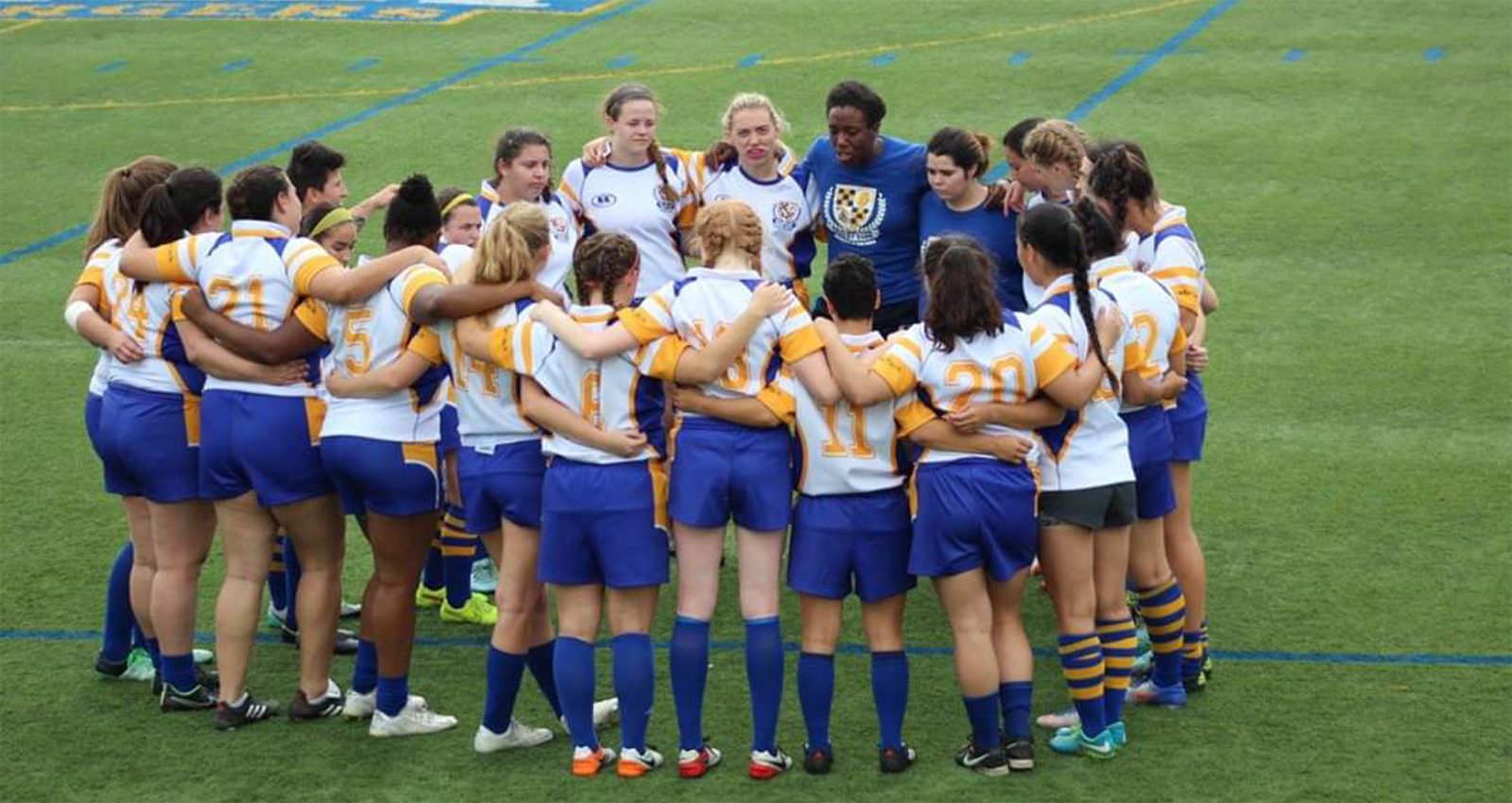 Image of Alycia Washington and theUniversity of New Haven women's rugby club