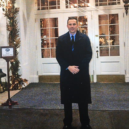 Adam Brown at the White House