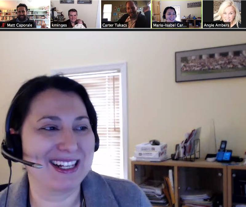 Zoom call with Maria-Isabel Carnasciali and other faculty members