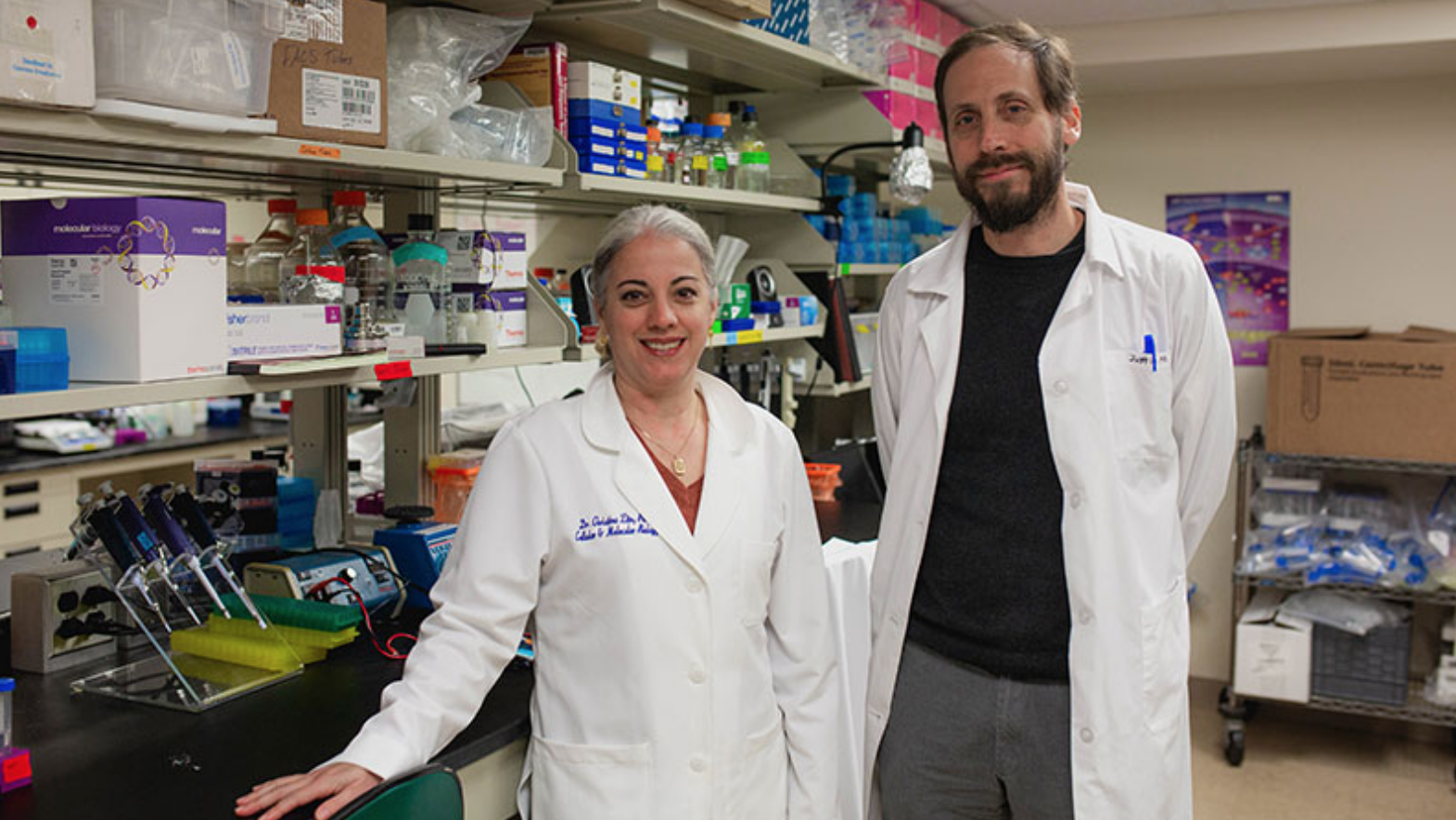 Image of Tina Zito, Ph.D., and Carter Takacs, Ph.D.