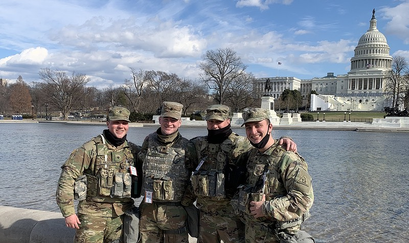 Brian Nalezynski and other memebrers from national guard.