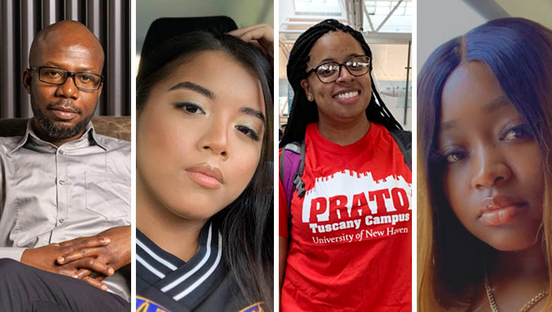 Yao Doe '21 MPH, Selena Chom '21, Lauryn Bradley '21, and Charine Blackwood '21.