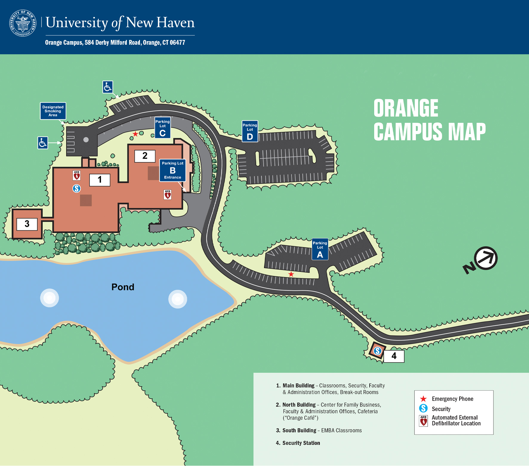 Orange Campus Map