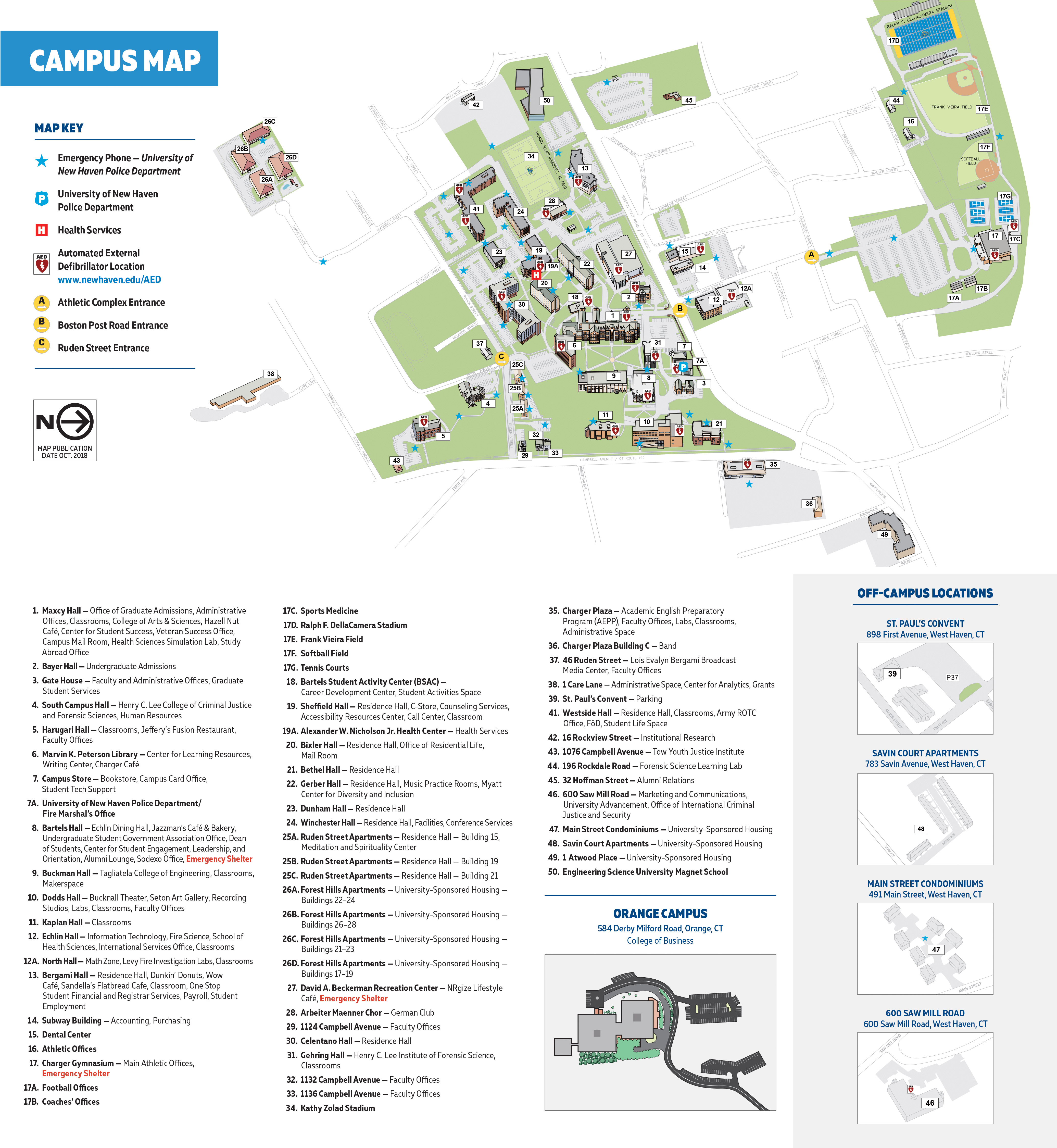 West Haven Campus Map