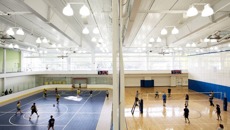 Image of the inside the ChargerRec building