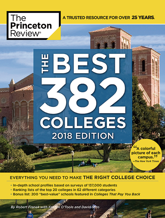 "Cover of Princetion Review ""Best 382 Colleges"" Guidebook"