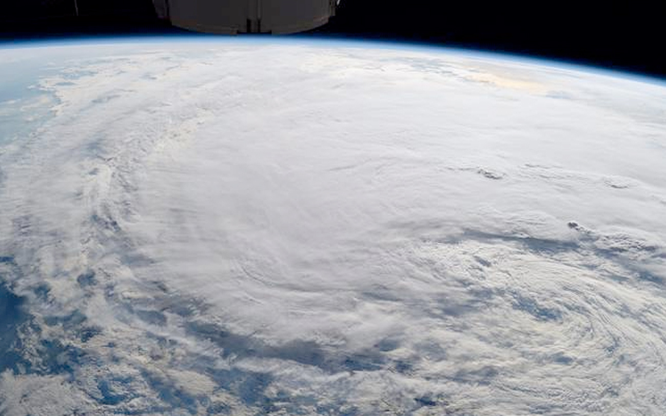 Photo of Tropical Storm Harvey from the International Space Station on Aug. 28 at 1:27 p.m. CDT taken by Astronaut Randy Bresnik.
