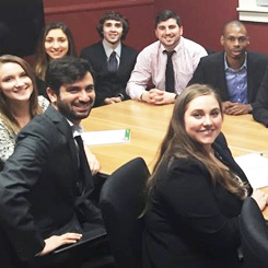 An image of students in the Master of Arts in Industrial Organizational Psychology program from the University of New Haven. Our i o psychology program is one of the leading industrial organizational psychology graduate programs.