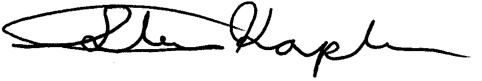 Image of Steve Kaplan signature