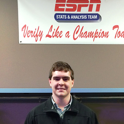 An image of smiling Matt Boczar, an alumnus of one of the top sports management universities.